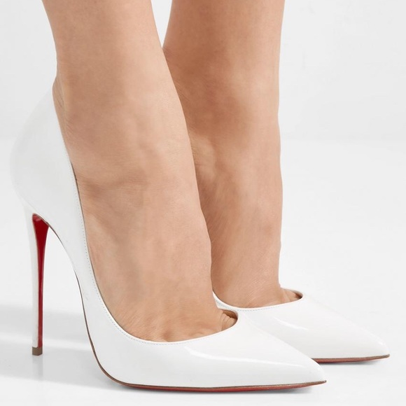 "watch df498 64894 ""latte white"" CHRISTIAN LOUBOUTIN ""so kate"" HEEL NWT"